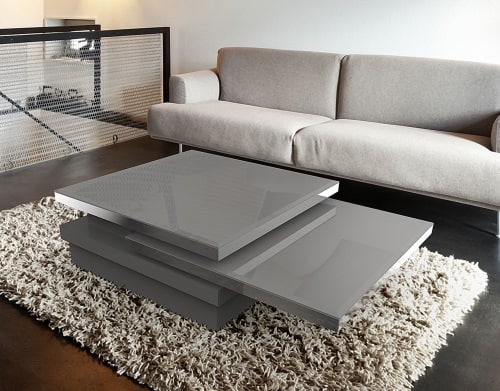 Sigma coffee table from akante - Table basse 3 plateaux pivotants ...