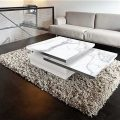 Sigma coffee table from Akante -Mat Marble ceramic