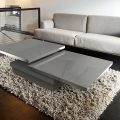 Sigma coffee table from Akante - Grey lacquered