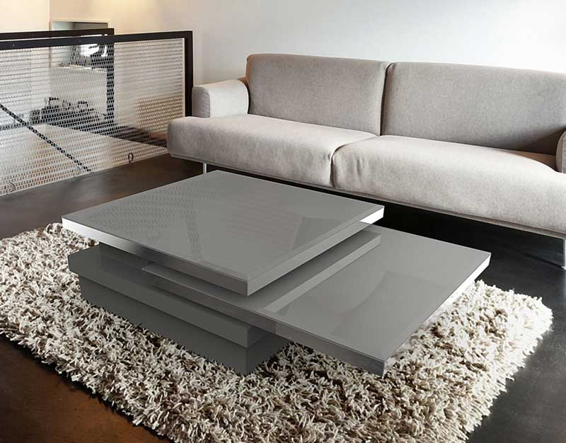 ... Sigma Coffee Table From Akante   Grey Lacquered ...