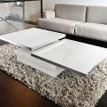 Sigma coffee table from Akante - White lacquered