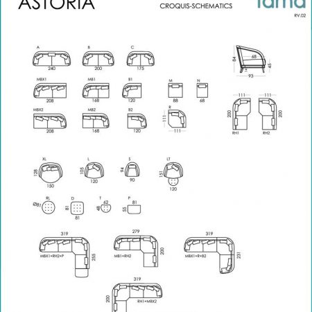 Astoria spec sheet from Fama