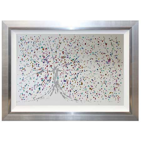 Rainbow Tree Mirror With Liquid Art From Complete Colour