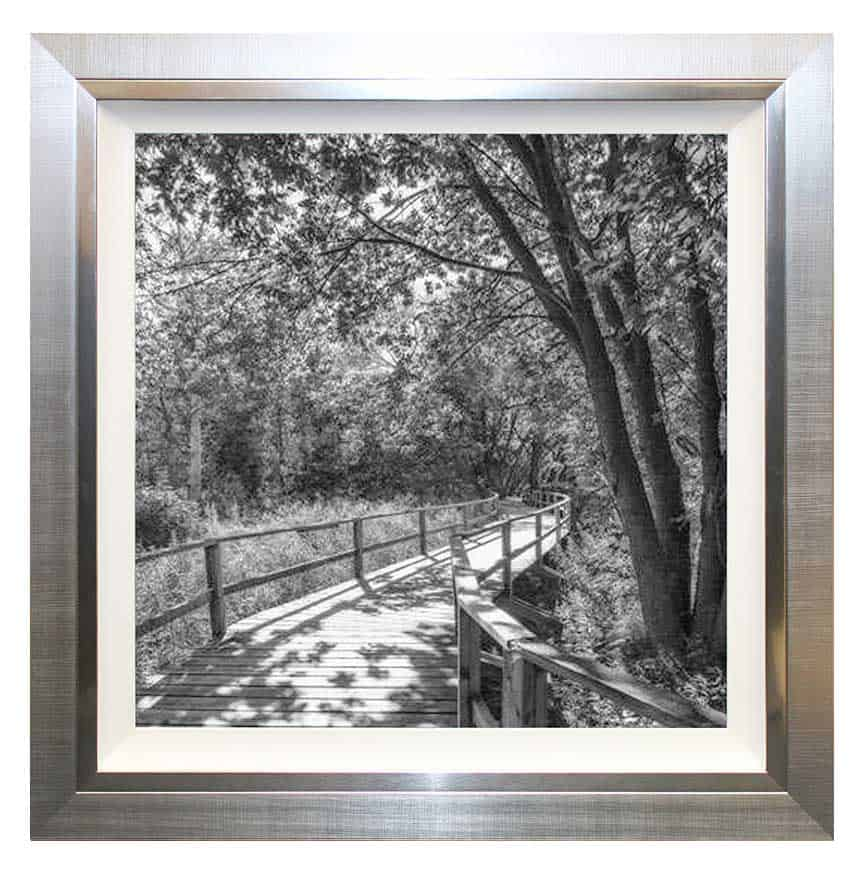 Path away framed print complete colour