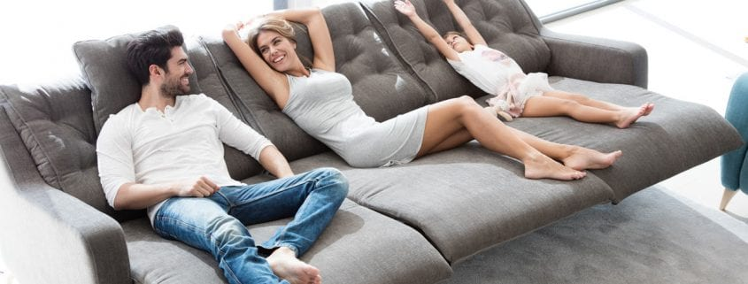 Avalon sofa from Fama with reclining seats (optional extras)