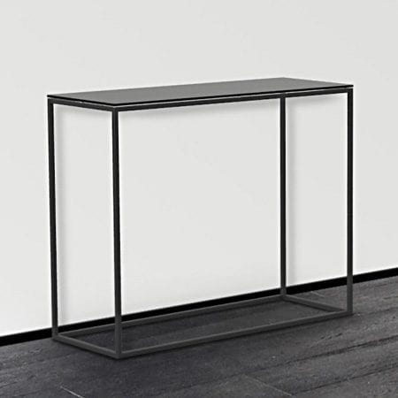 Julia ST180 Console Table - Lacquered Black