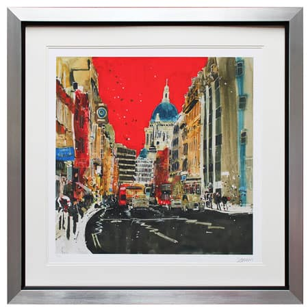 St Pauls Red Susan Brown Ltd Framed Print From Complete