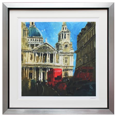 St Pauls (Blue) - Susan Brown Ltd Framed Print from Complete Colour