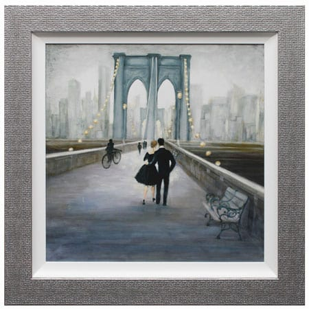 Strolling through New York I framed print from Complete Colour