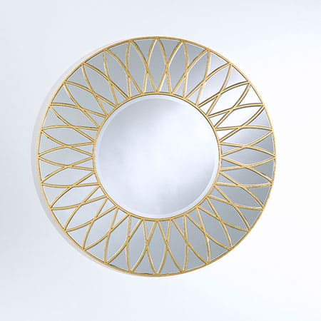 Dahlia Gold Mirror From Deknudt
