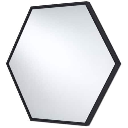 Lina Black Hex Mirror from Deknudt