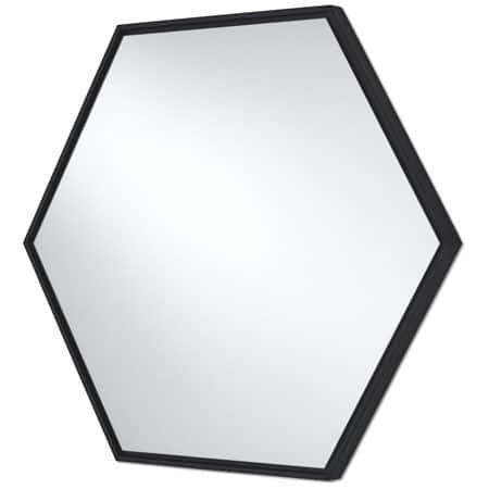 Lina Black Hex Mirror from Deknudt