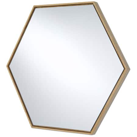 Lina Oak Hex Mirror from Deknudt