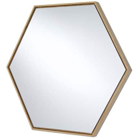 Lina Oak Hex Mirror from Deknudt