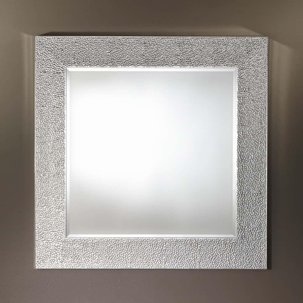 Oslo Silver Square Mirror From Deknudt Mia Stanza