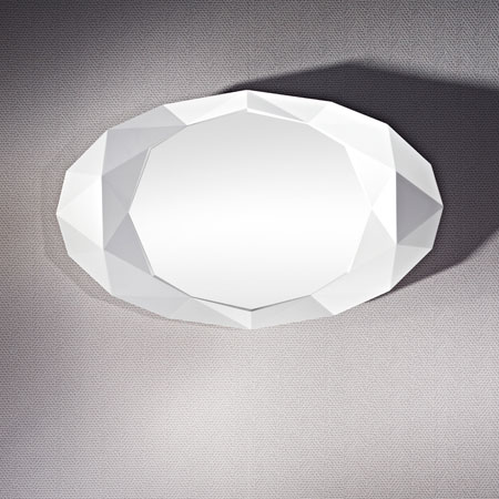 Precious White Mirror From Deknudt