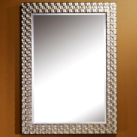 Almeria silver rectangular mirror from Deknudt