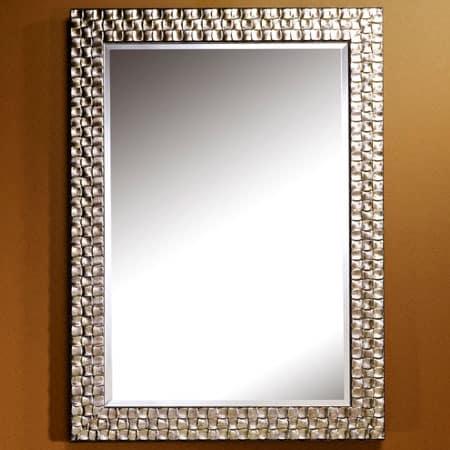 Almeria silver rectangular mirror from Deknudt