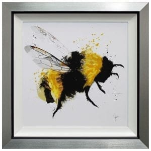 Scruffy Bumblebee III with Liquid Art from Complete Colour
