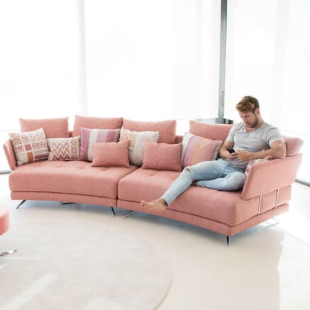 Pacific curved sofa from Fama