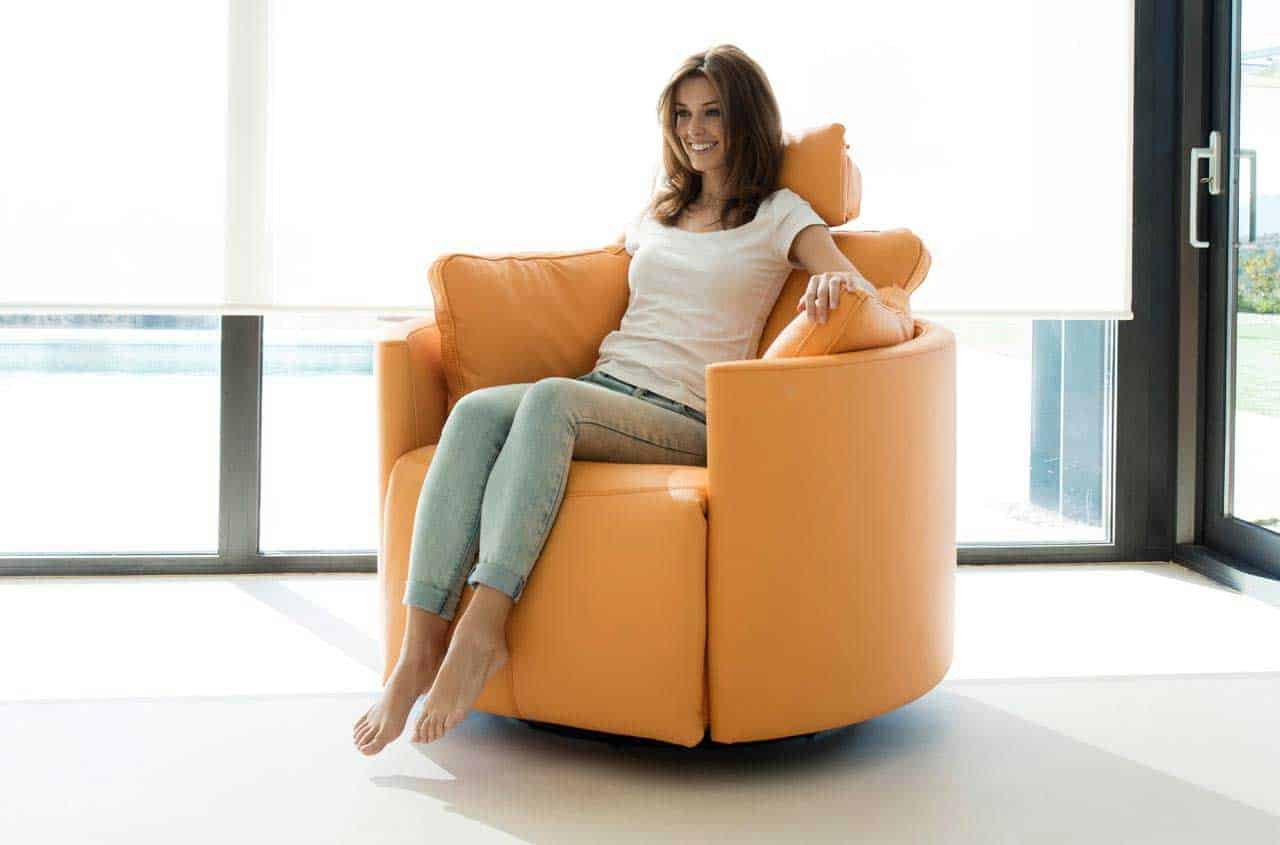 Moonrise leather chair from Fama