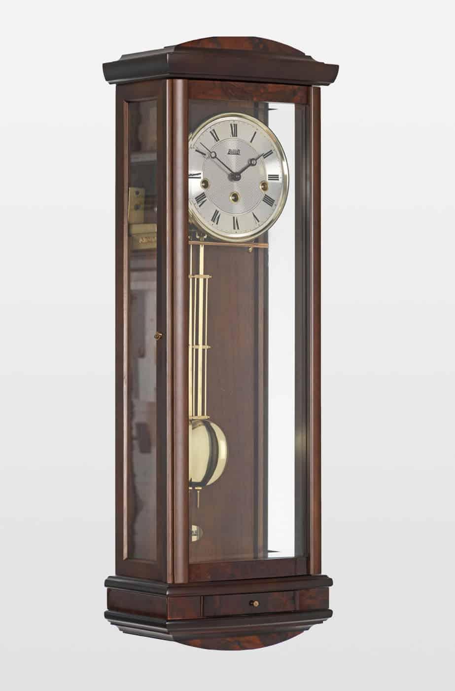 Abbeydale Mechanical Wall Clock in Walnut Finish