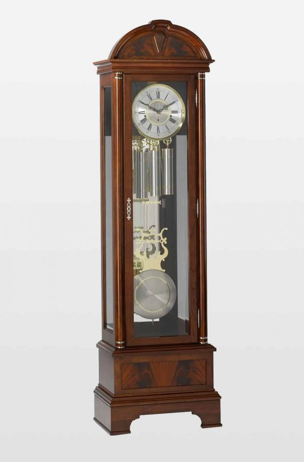 Fulton Grandfather Clock In Mahogany Finish