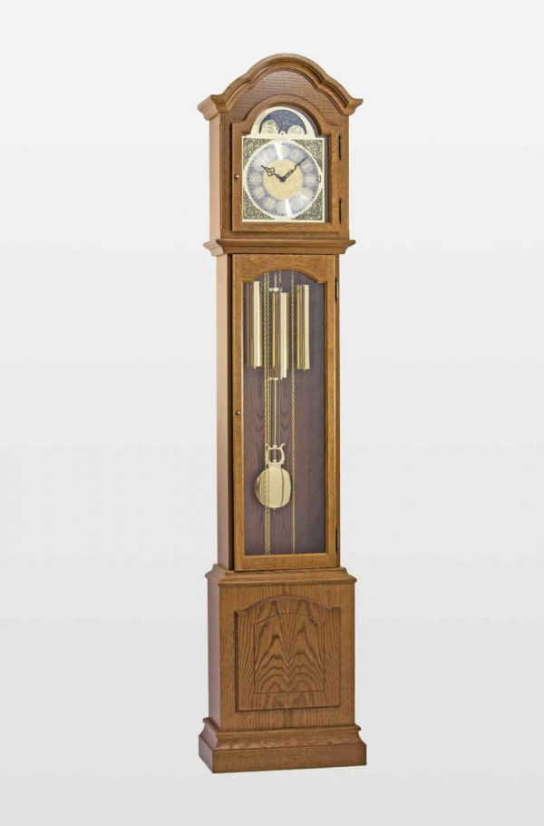 Glenhaven Grandmother Clock In Oak Finish