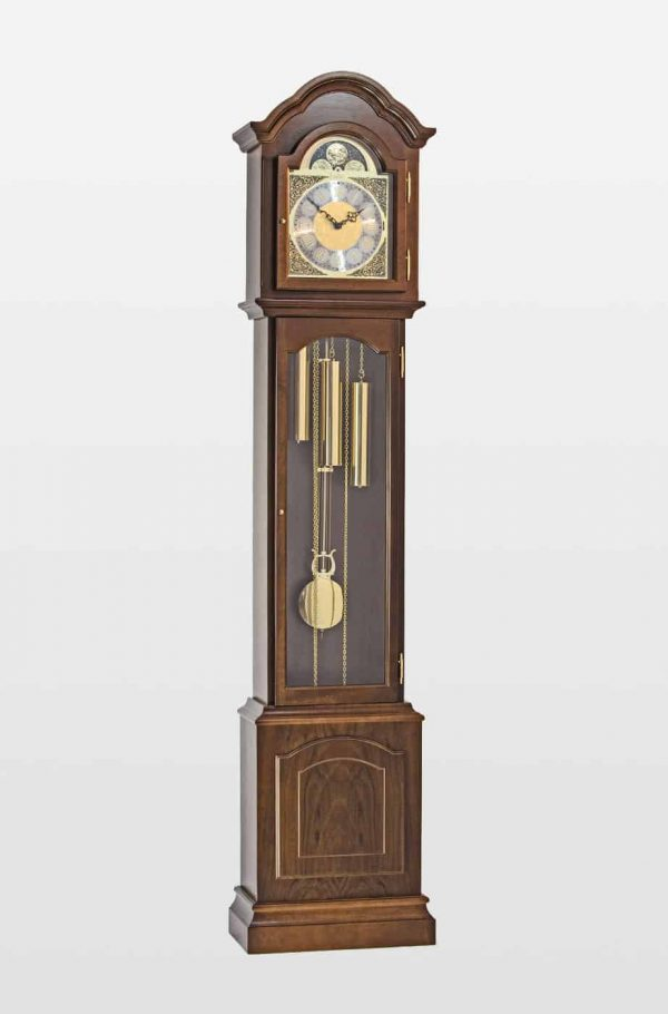 Glenhaven Grandmother Clock In Walnut Finish
