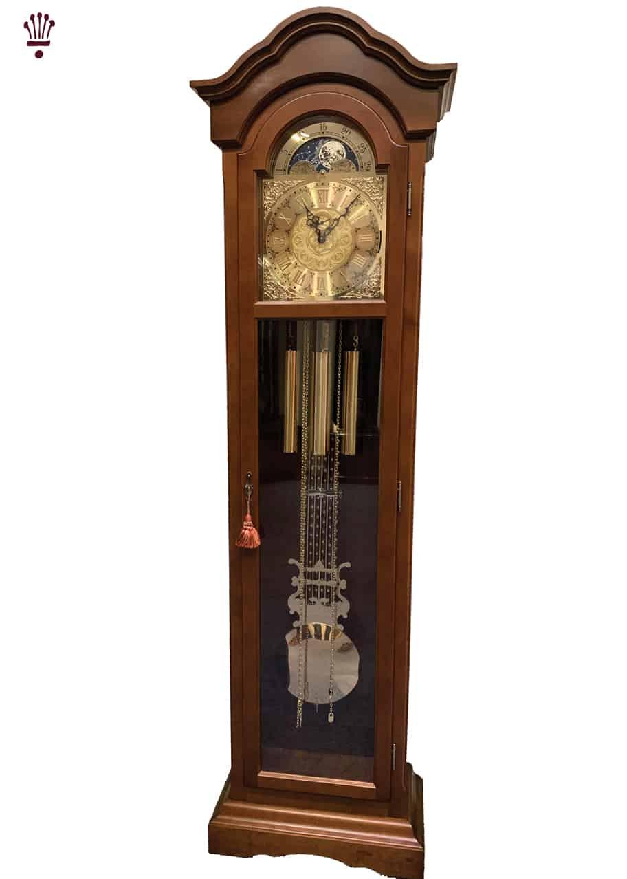 Mayfair Grandfather Clock In walnut Finish