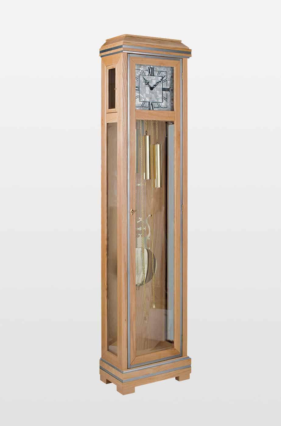 Messina Grandfather Clock In Oak Finish