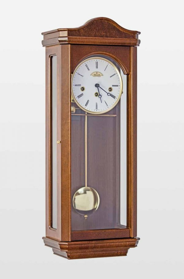 Norton Mechanical Wall Clock In Walnut Finish