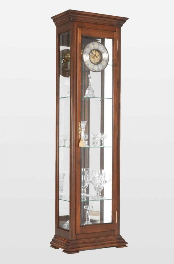 Stephanie Grandfather Clock In Walnut Finish