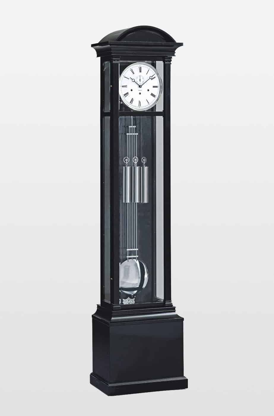 Witney Grandfather Clock In Steinway Black Finish