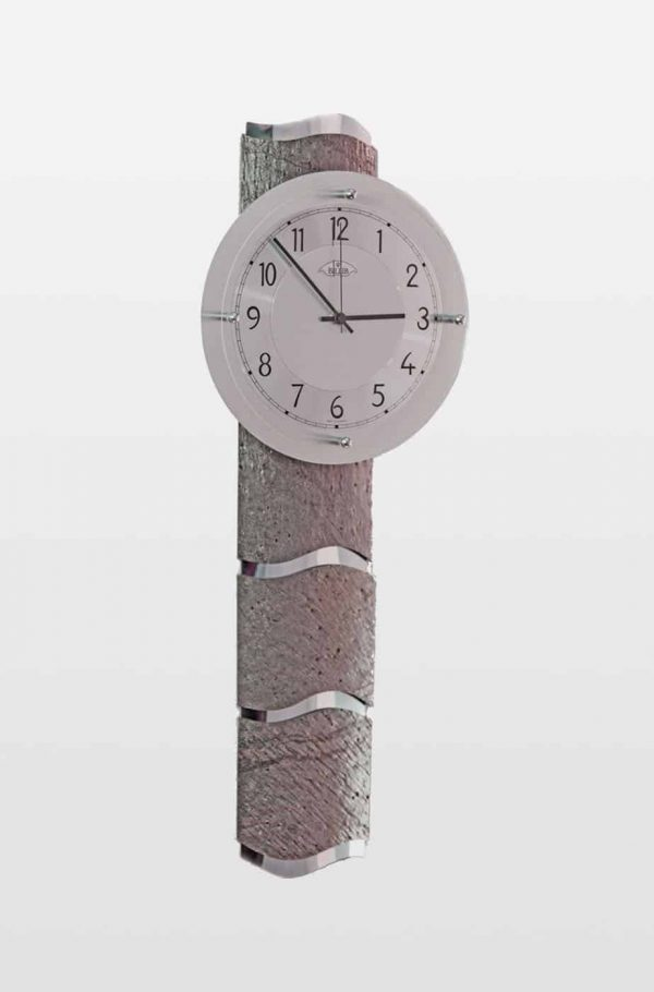 QC9090 Designer Grey Stone Effect Wall Clock