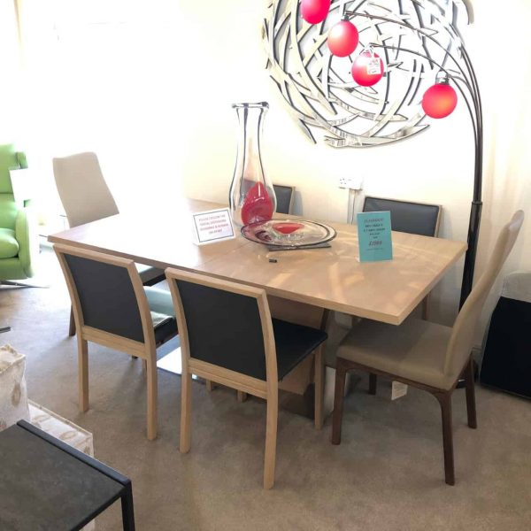 Skovby SM37 extending dining table & 4 SM90 chairs