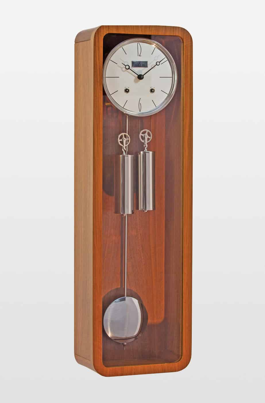 Vintage Mechanical Wall Clock in Teak Finish