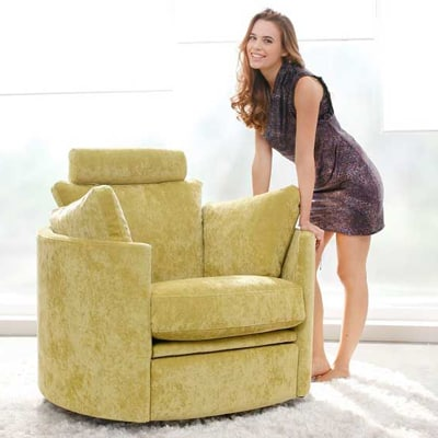 Moon Chair fabric with electric recliner