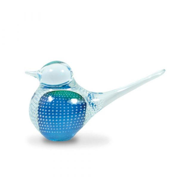 Big Basil Bird Teal Bubbles 12cm