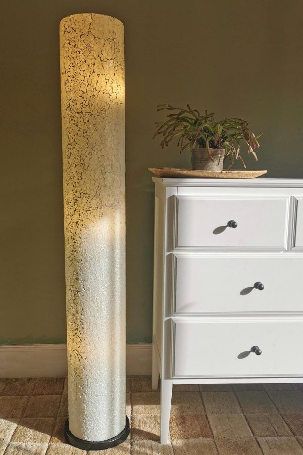 Amalthea White Glass Floor Lamp
