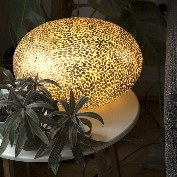 Callisto Gold Ovo Lamp