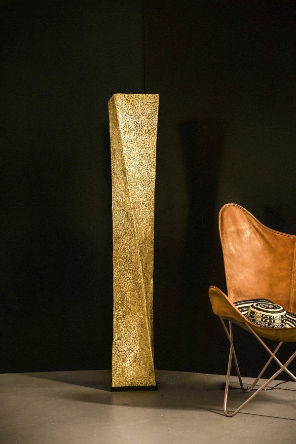 Callisto Gold Twisted Floor Lamp