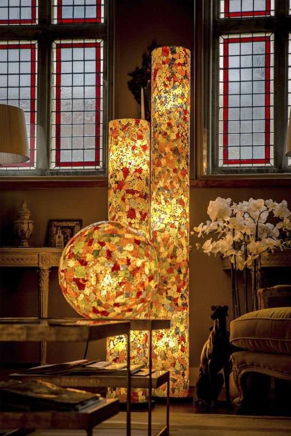 Calypso Tall Stained Glass Floor Lamp