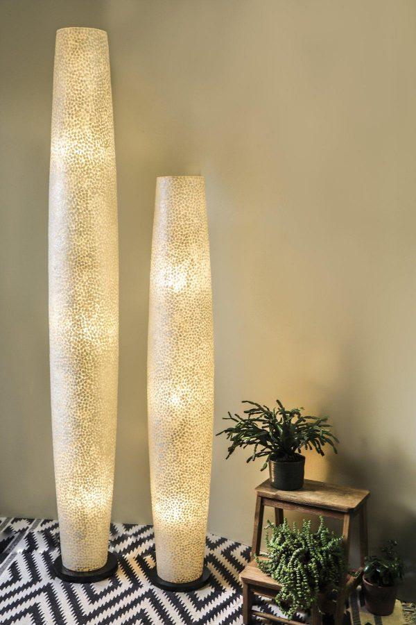 Elara Tall White Floor Lamp