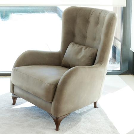 Aston Leather Arm Chair from Fama