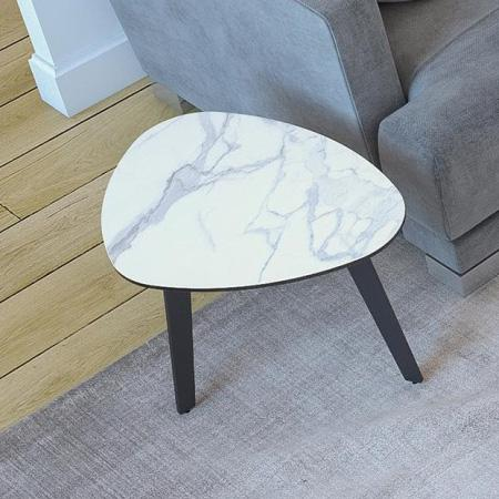 Galet Side Table Mat Marble Ceramics